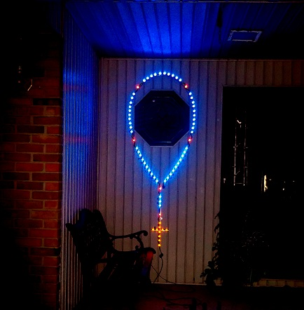 Outdoor Illuminated Rosary
