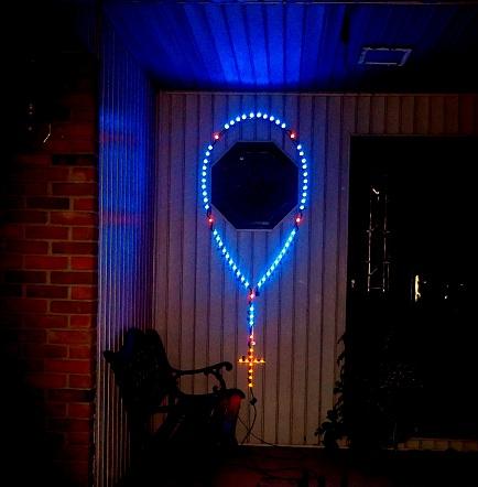 outdoor rosary illuminations. Black Bedroom Furniture Sets. Home Design Ideas